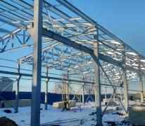 Фермы из легких стальных конструкций производственного здания в Истре