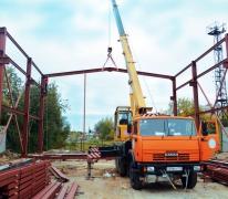 Монтаж металлоконструкций ангара в Подольске
