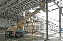 Ремонт кровли производственно-складского здания (д. Пешки)