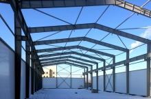 Производственный комплекс скран-балкой, административно-бытовое здание(3 этажа)(г. Подольск)